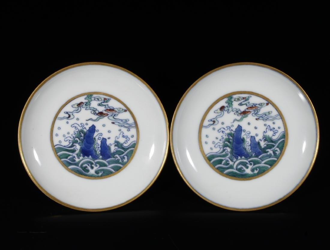 2 Pieces of Chinese Porcelain Plates, Marked