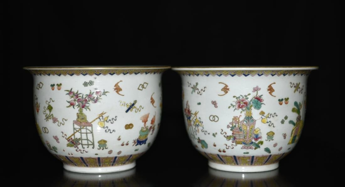2 Pieces of Chinese Famille Rose Planters