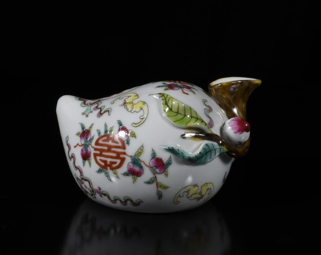 Chinese Famille Rose Porcelain Water Dropper