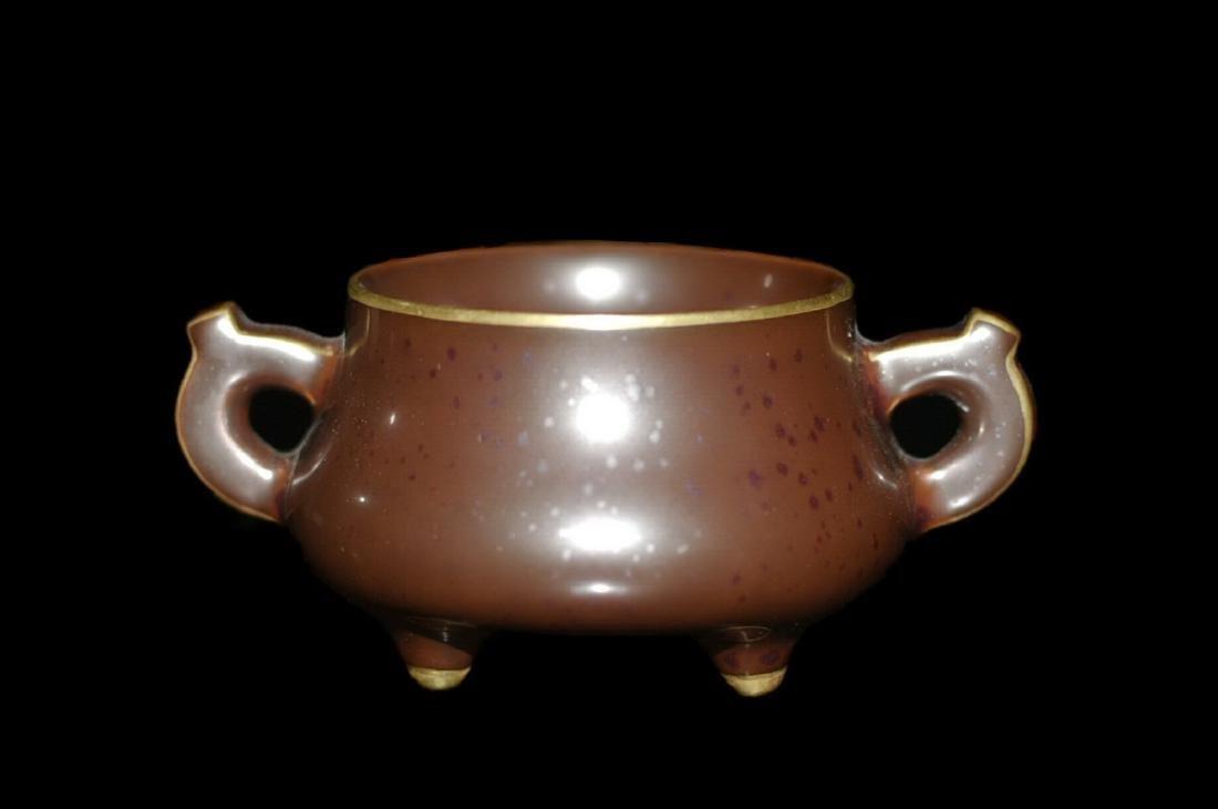 Chinese Tea Dust Porcelain Incense Burner