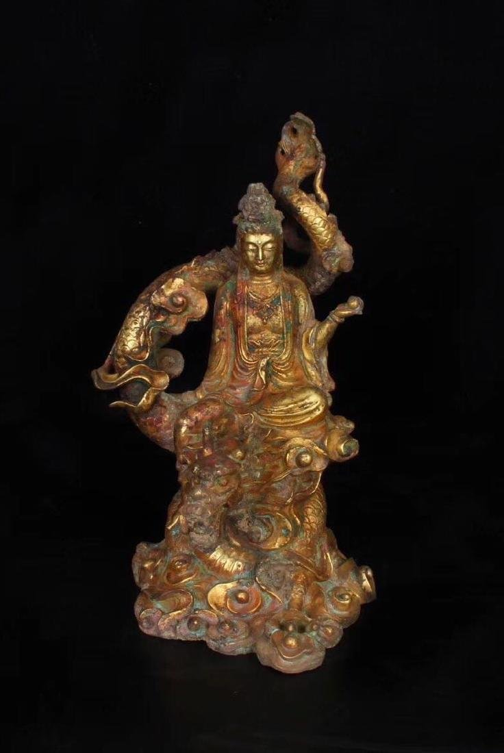Chinese Gilt Bronze Buddha