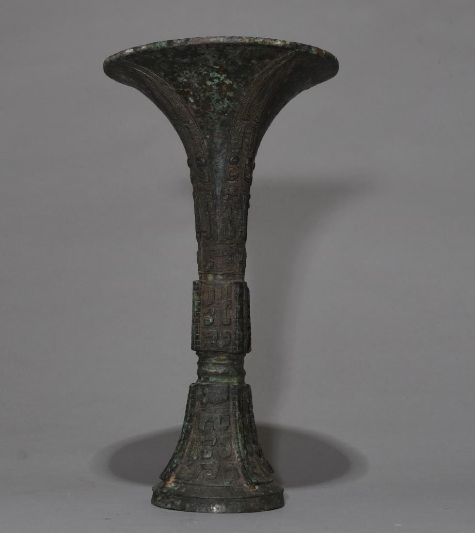 Chinese Archaic Bronze Gu Vase