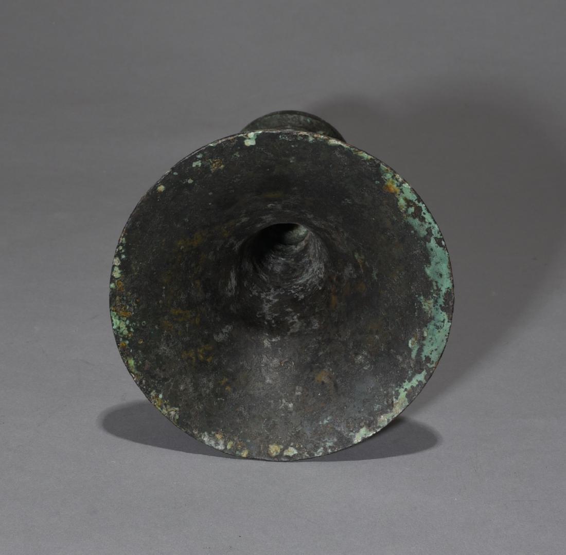 Chinese Archaic Bronze Gu Vase - 3