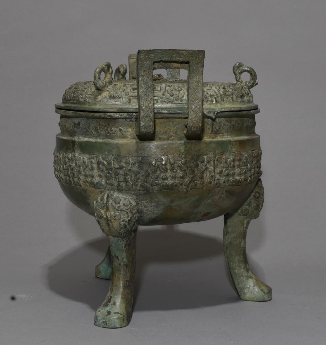 Chinese Bronze Incense Burner - 4