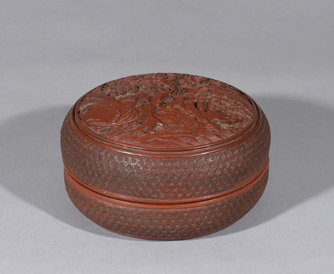 Chinese Lacquer Covered Box