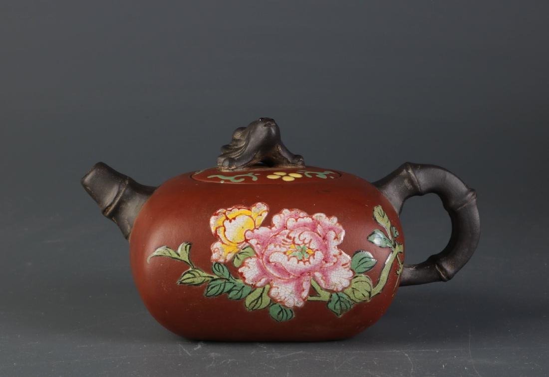 Chinese YiXing Zisha Teapot, Marked