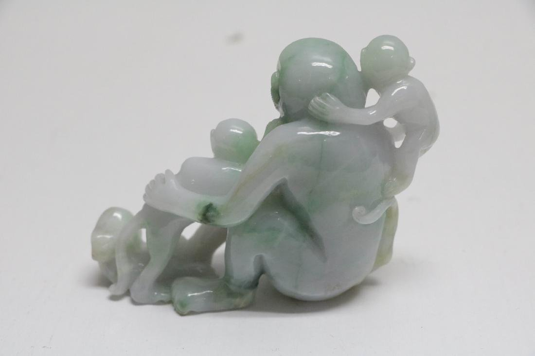 Chinese Jadeite Carving of Monkeys and Peaches - 2