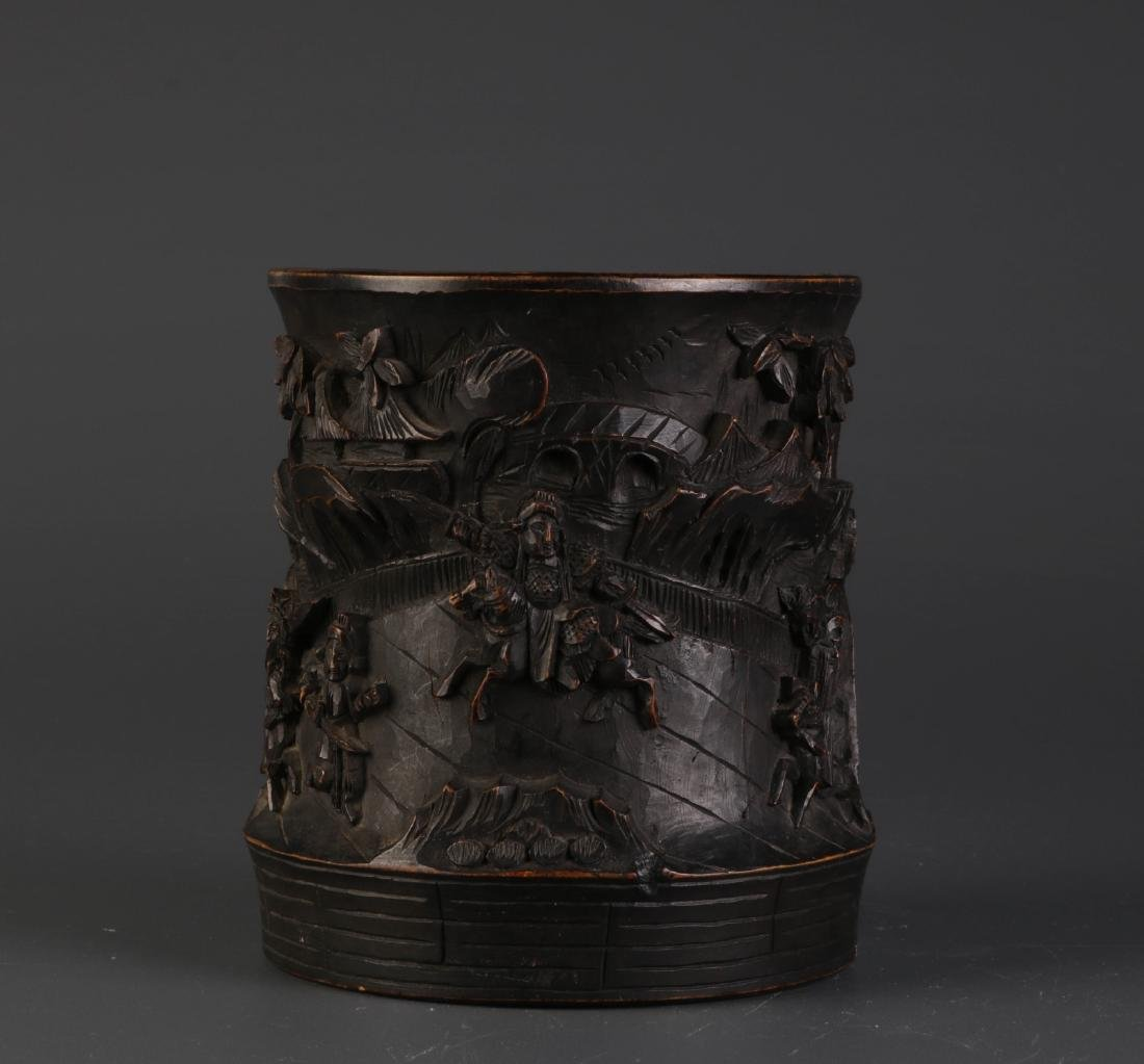 Chinese Possible Bamboo Brush Pot