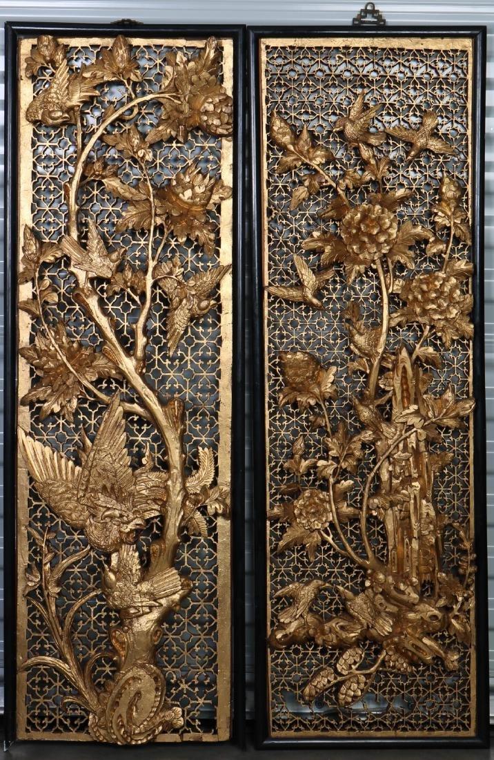 Pair of Gilt Wood Panels