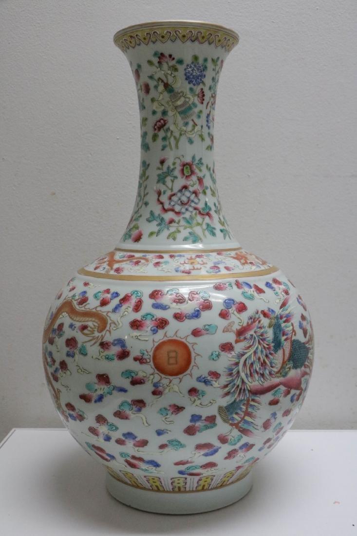 Chinese Famille Rose Gilt Large Porcelain Vase