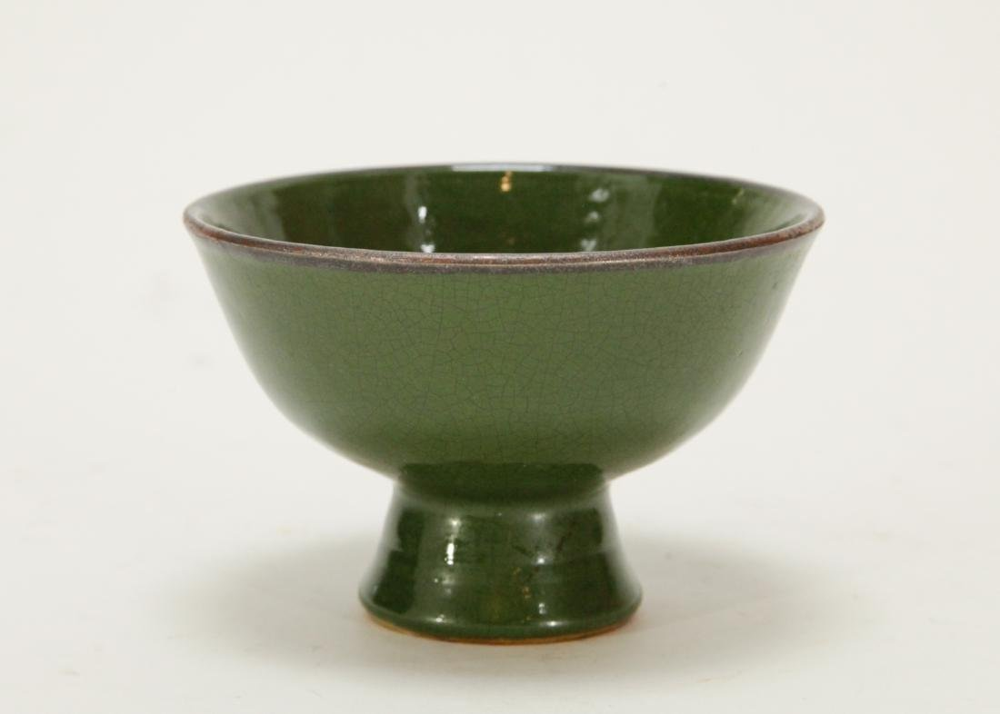 Chinese Green Glazed Porcelain Cup