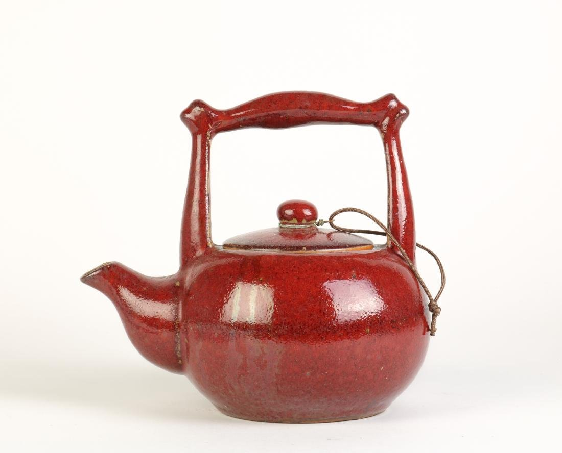 Chinese Red Glazed Teapot