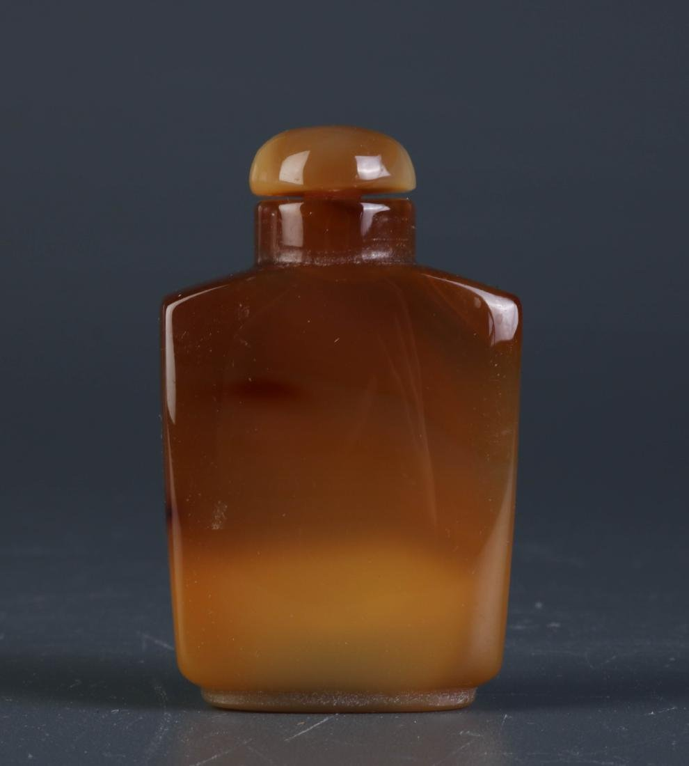 Chinese Agate Snuff Bottle Brown Color