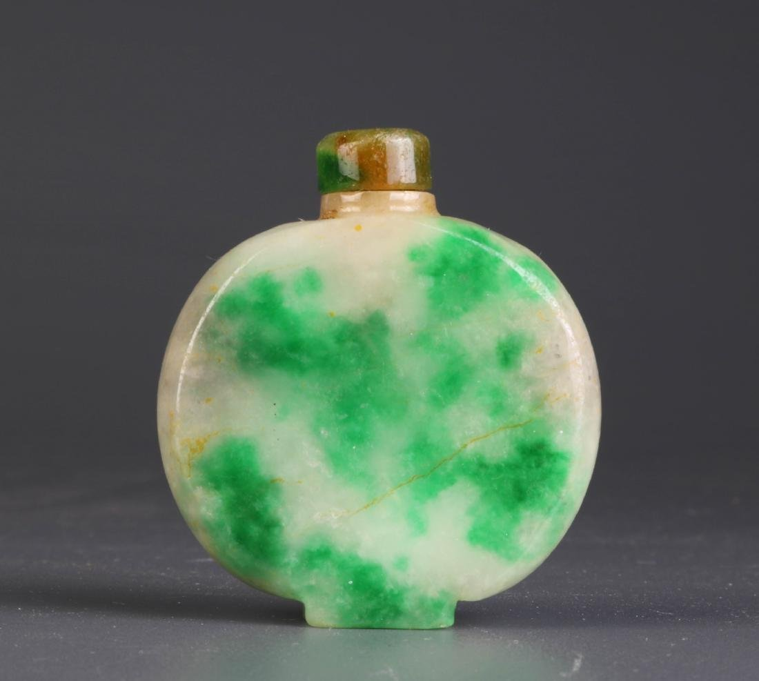 Chinese Carved Jadeite Snuff Bottle