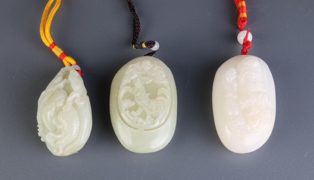 3 Pieces of Chinese Jade Carvings