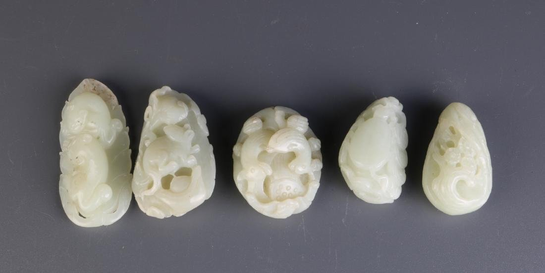 5 Pieces of Chinese Jade Carvings