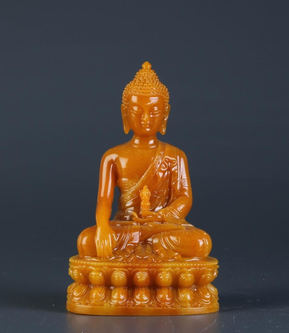 Chinese Soapstone Carving of Buddha