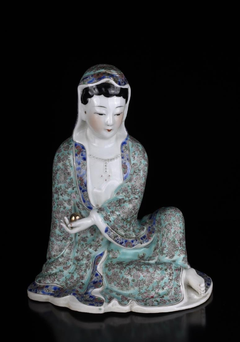 Chinese Famille Rose Porcelain Guanyin