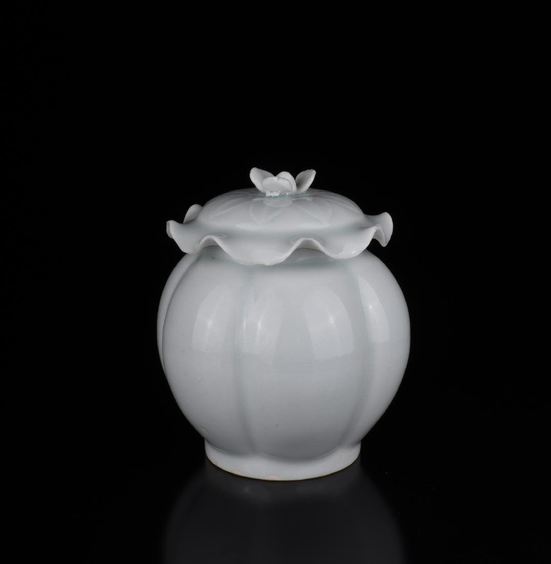Chinese White Glazed Ceramic Jar