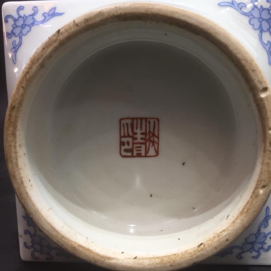 Pair of Chinese Famille Rose Porcelain Vase, Marke - 10