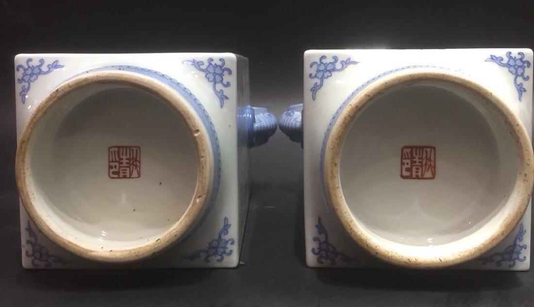Pair of Chinese Famille Rose Porcelain Vase, Marke - 9