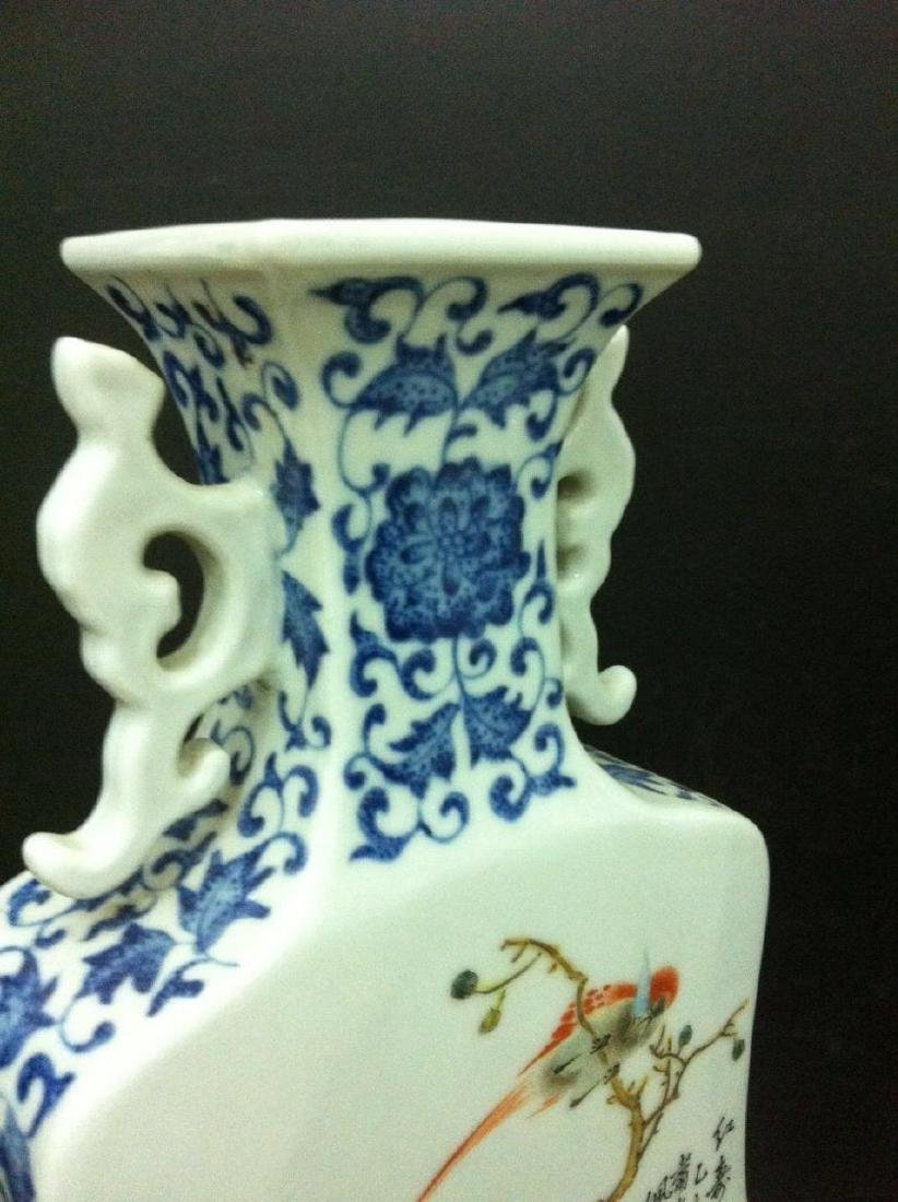 Pair of Chinese Famille Rose Porcelain Vase, Marke - 5