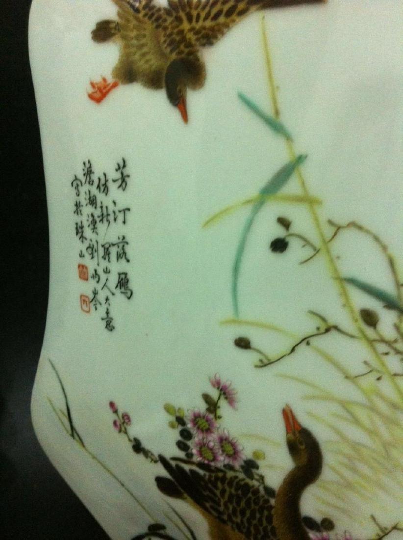 Pair of Chinese Famille Rose Porcelain Vase, Marke - 6