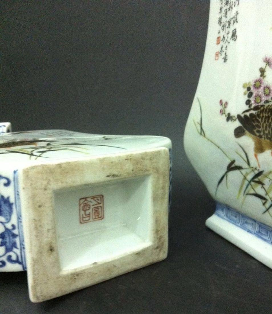 Pair of Chinese Famille Rose Porcelain Vase, Marke - 8