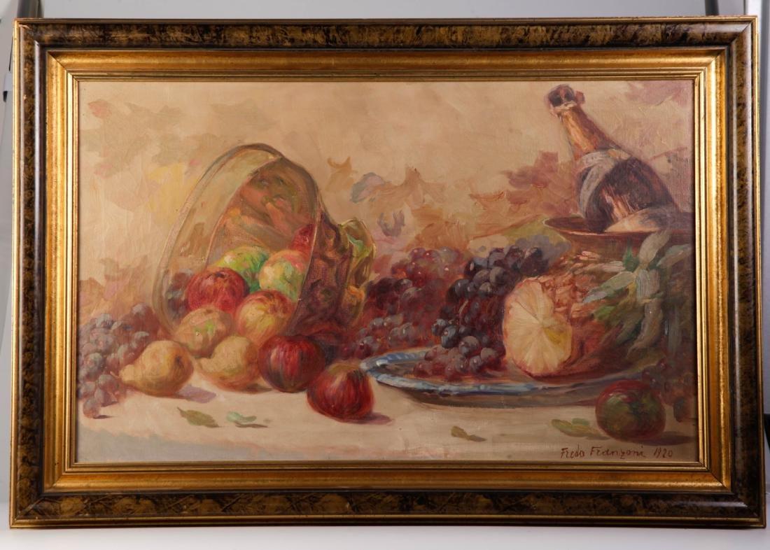 Fredo Franzoni Circa 1921 Oil on Canvas Painting