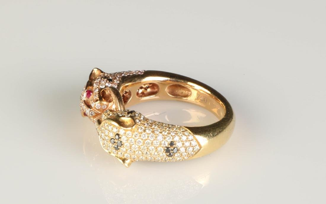 18K Panther Ring w/ Diamond Marked Cartier - 2
