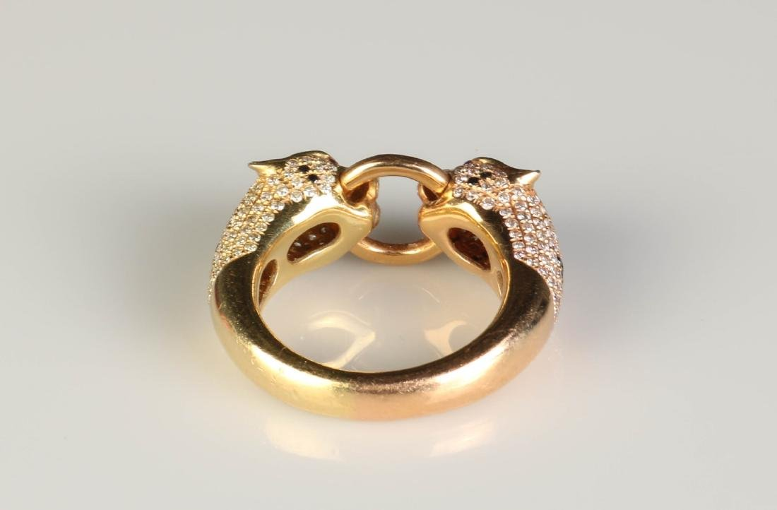 18K Panther Ring w/ Diamond Marked Cartier - 3