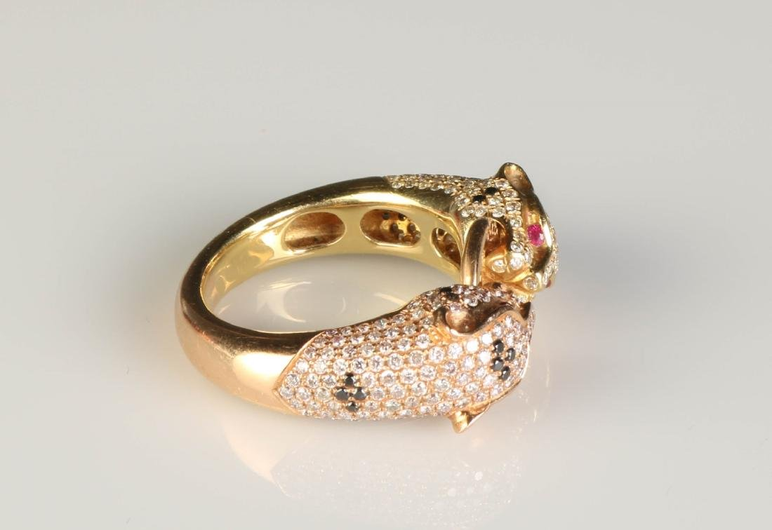 18K Panther Ring w/ Diamond Marked Cartier - 4