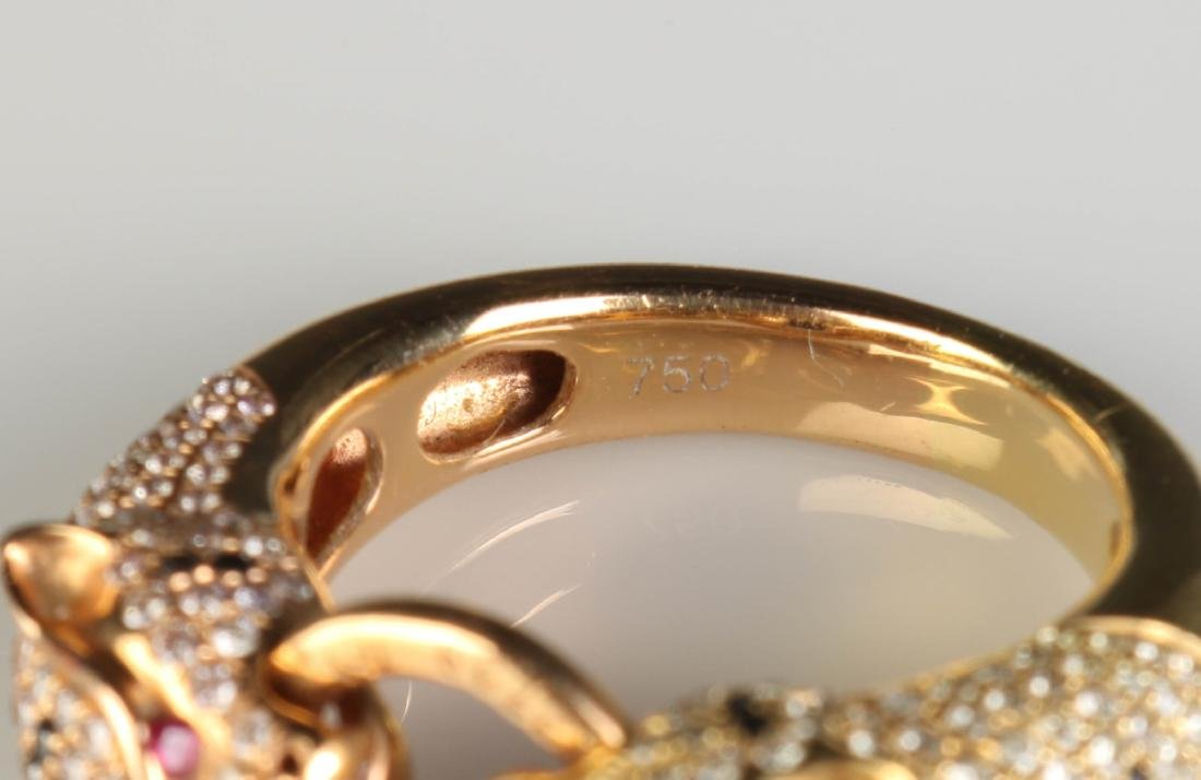 18K Panther Ring w/ Diamond Marked Cartier - 5