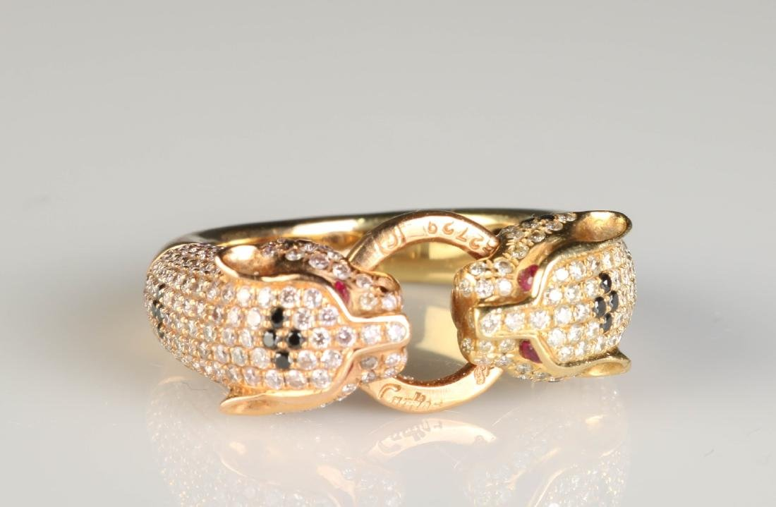 18K Panther Ring w/ Diamond Marked Cartier - 6