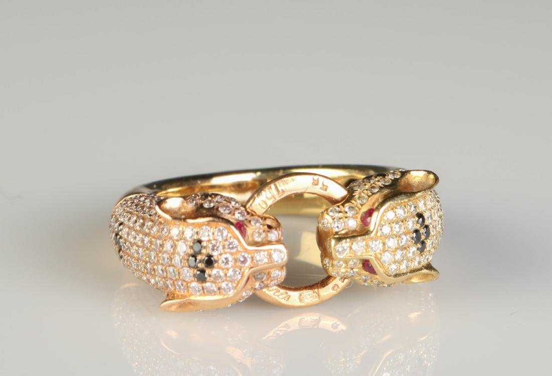 18K Panther Ring w/ Diamond Marked Cartier - 7