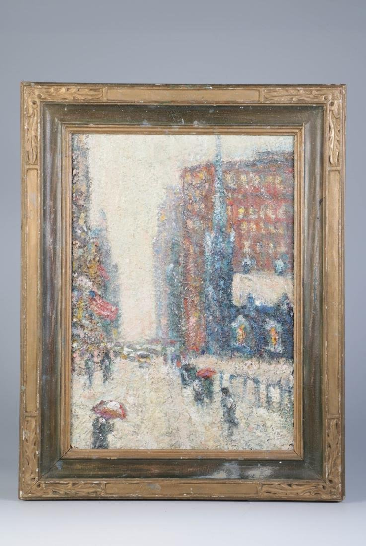 Impressionist Oil Painting of a Street
