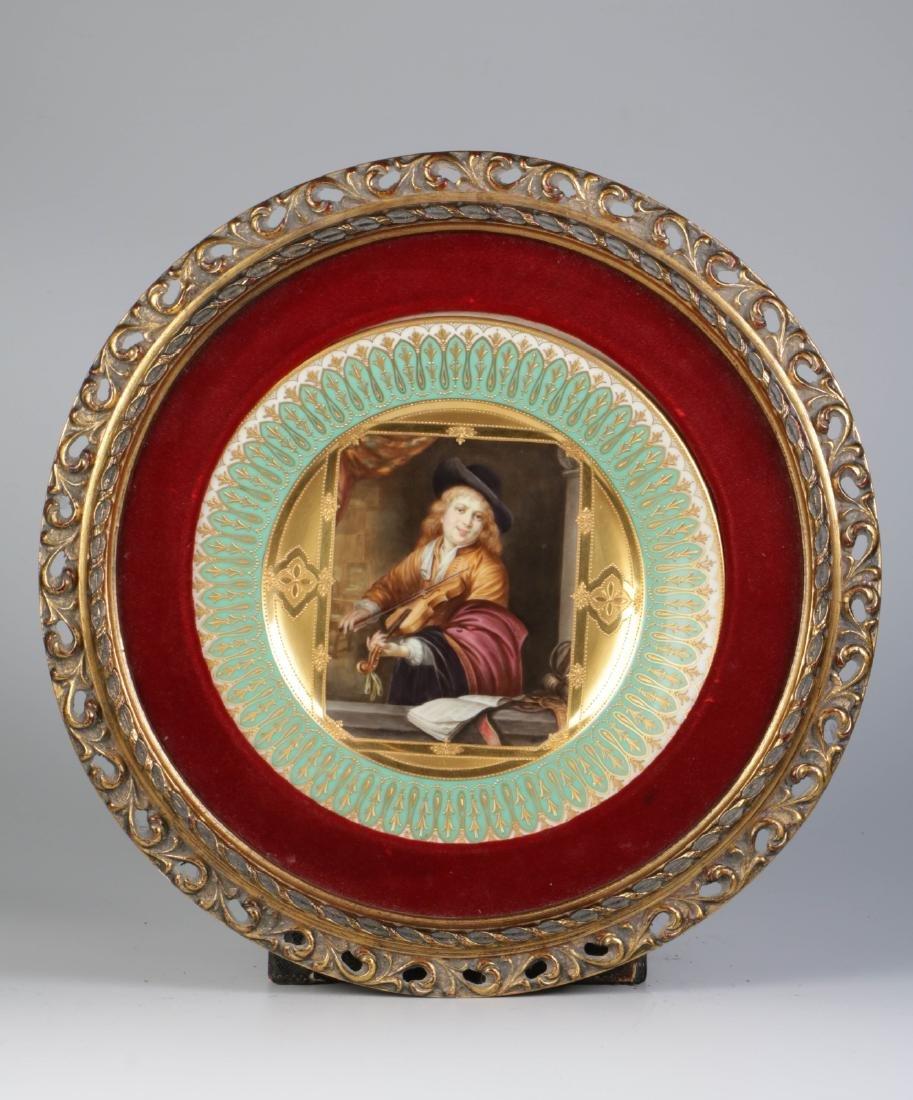 HandPainted on Porcelain Plate w/ Violentist