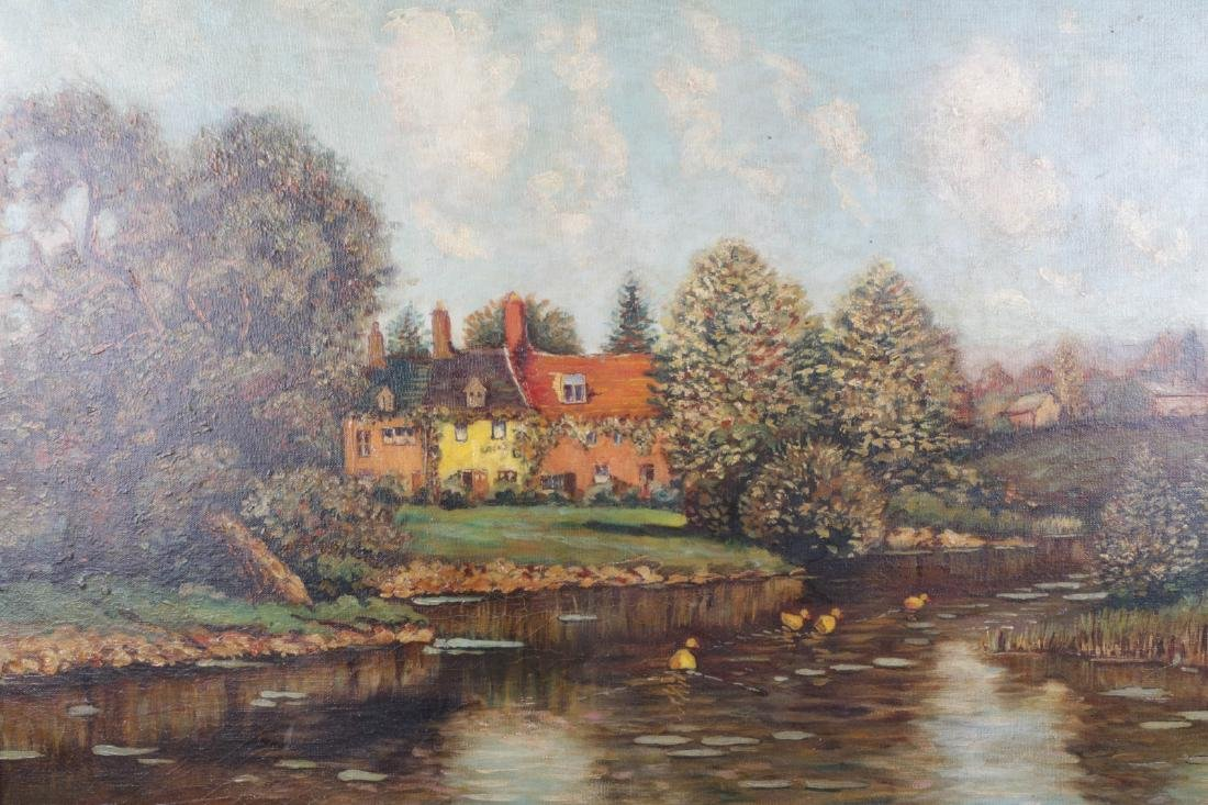 Oil on Canvas Landscape Painting, Signed - 2