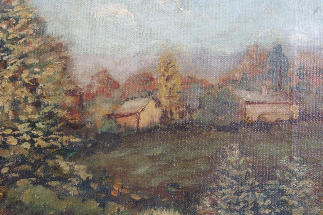 Oil on Canvas Landscape Painting, Signed - 5
