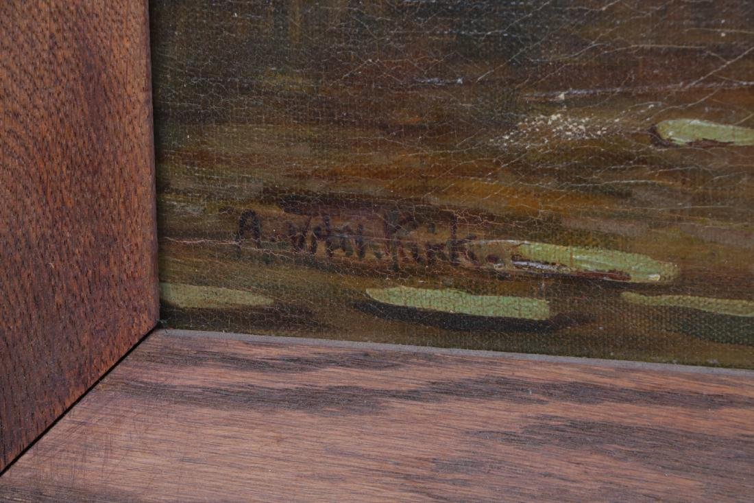 Oil on Canvas Landscape Painting, Signed - 6