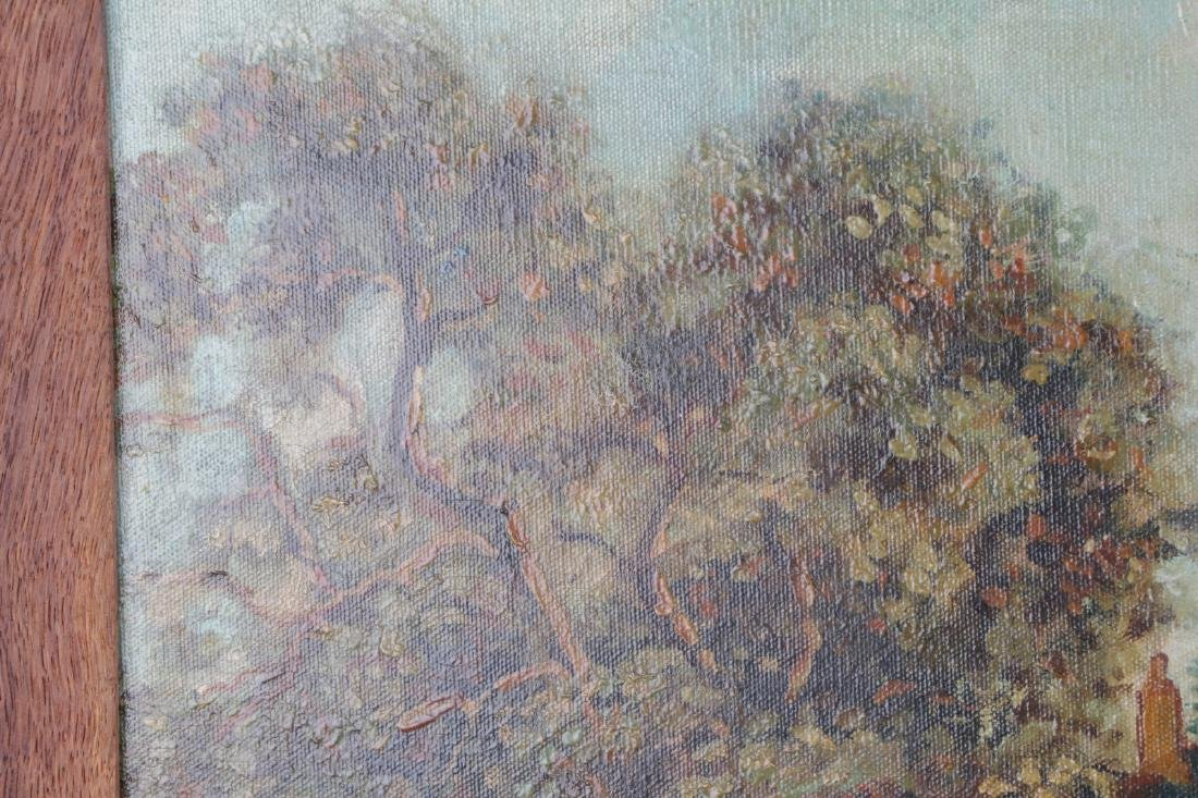 Oil on Canvas Landscape Painting, Signed - 7