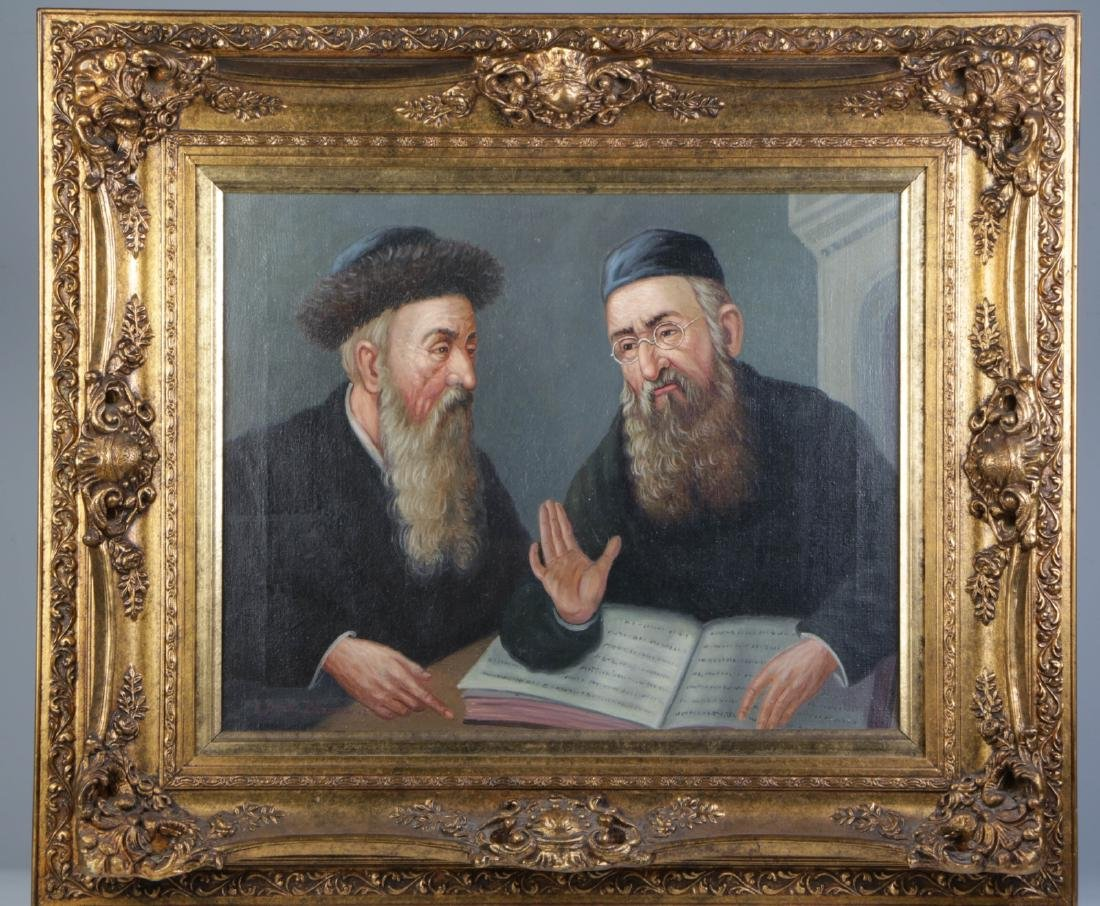 Oil on Canvas Talmudic Discussion