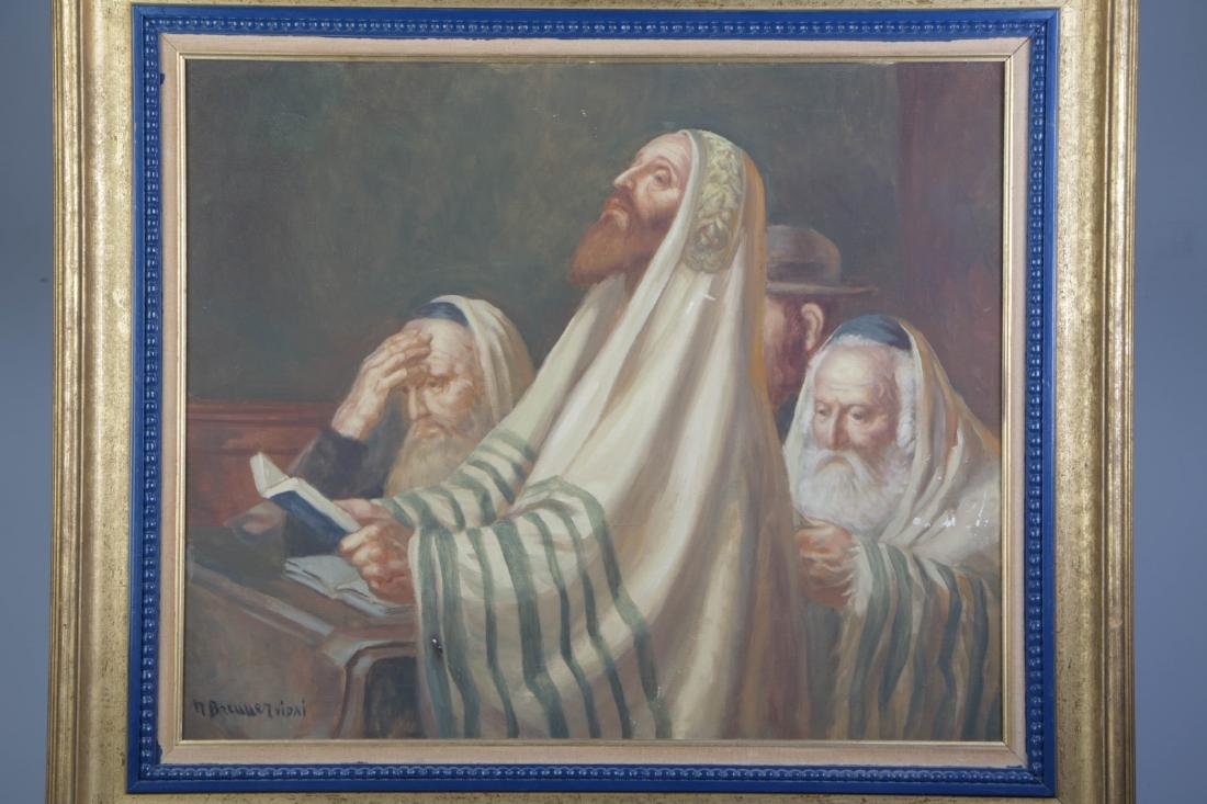 Oil on Canvas of Yonkippur Prayer