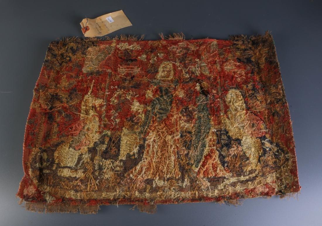 Tapestry Fragment Mledeval Motif
