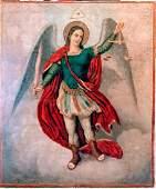 Antique 19c Large Icon Of st.Michael