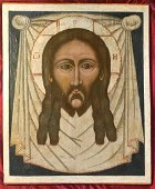 Large Antique 17c Russian Double sided icon