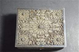 Chinese Export Hallmarked sterling silver Boxes