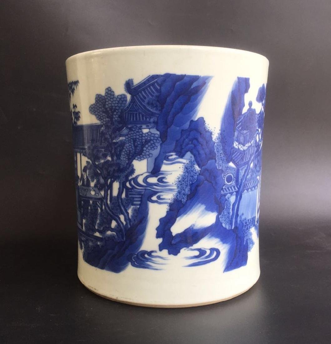 Qing Dynasty Chinese Blue/White Porcelain Pot