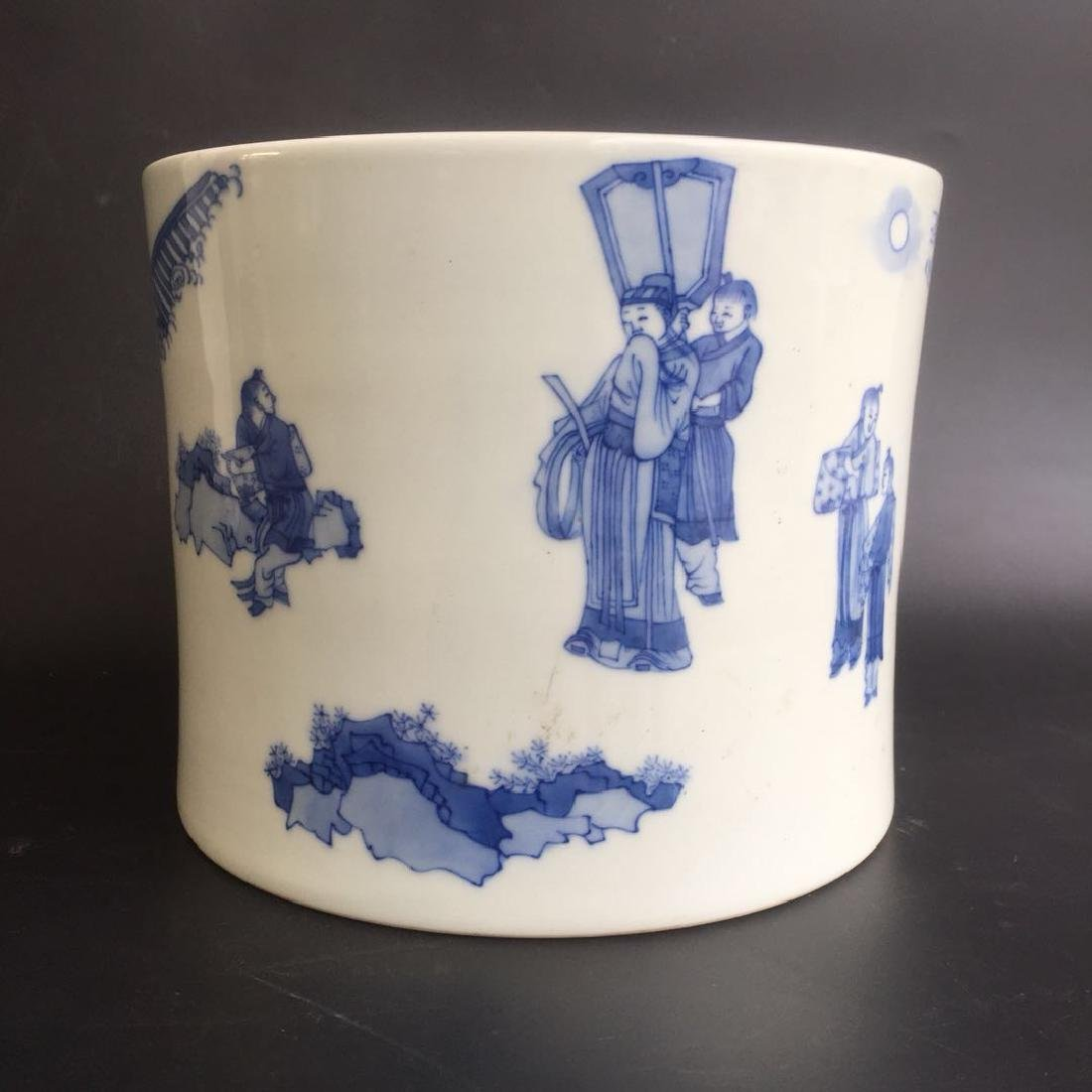 Chinese Blue/White Porcelain Brush Pot