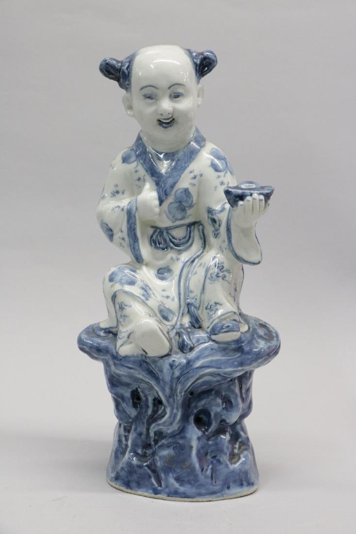 Chinese Blue/White Porcelain Figure